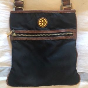 Tory Burch nylon and leather cross body bag